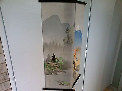 Chinese 4 seasons  Ink & Watercolour Painting on Rice Paper Silk Scroll - Signed