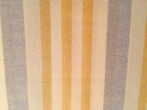 Ralph Lauren Striped QUEEN Sheet Set Summer Blue Yellow Ivory 4pc NIP Free Ship