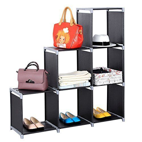 Bookcase Organizer Storage Cube Closet Durable Easy Set Up Black New  3-tier