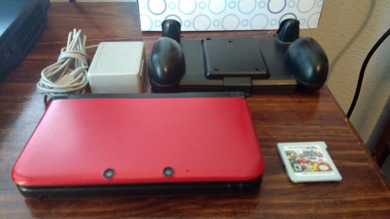 Nintendo 3DS XL RED Launch Edition - Smash Bros.