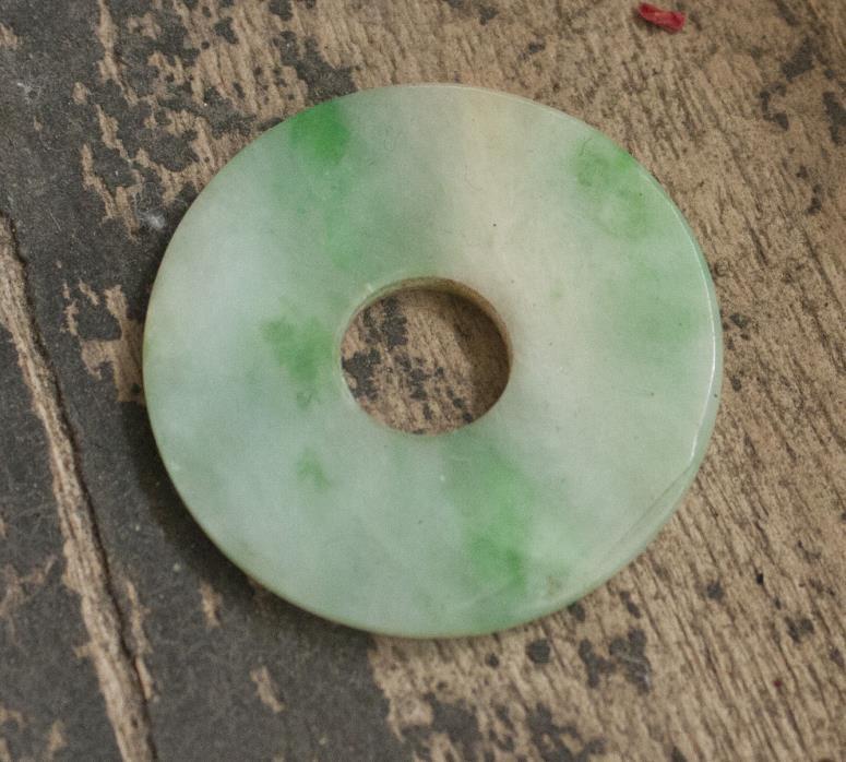 Antique Chinese Jadeite Jade Bi