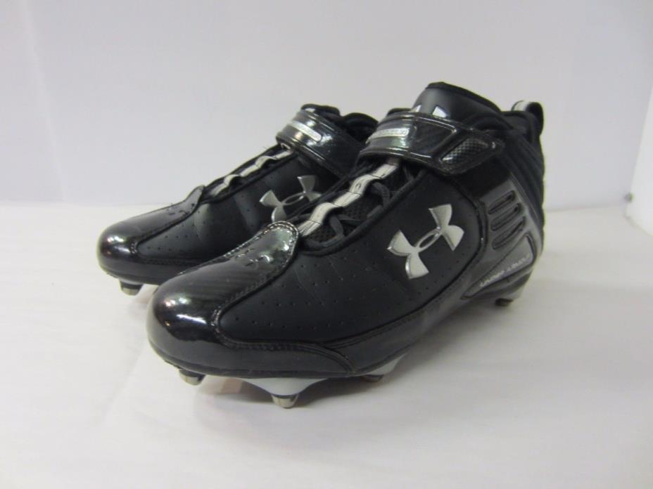 Under Armour Men's Lacrosse Cleats Black / Silver size 10.5