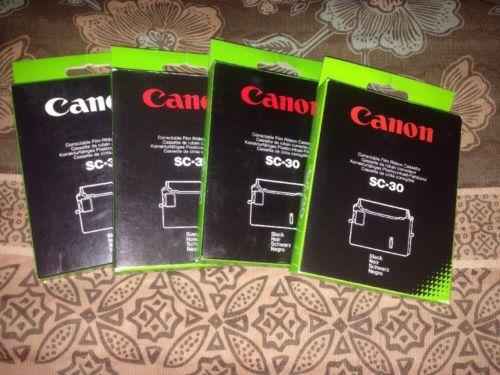 4 Canon Correctable Film Ribbon Cassettes SC-30 Black