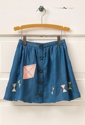 NWT Matilda Jane Size 2T 2 Hello Lovely! Blue FLY A KITE Skirt