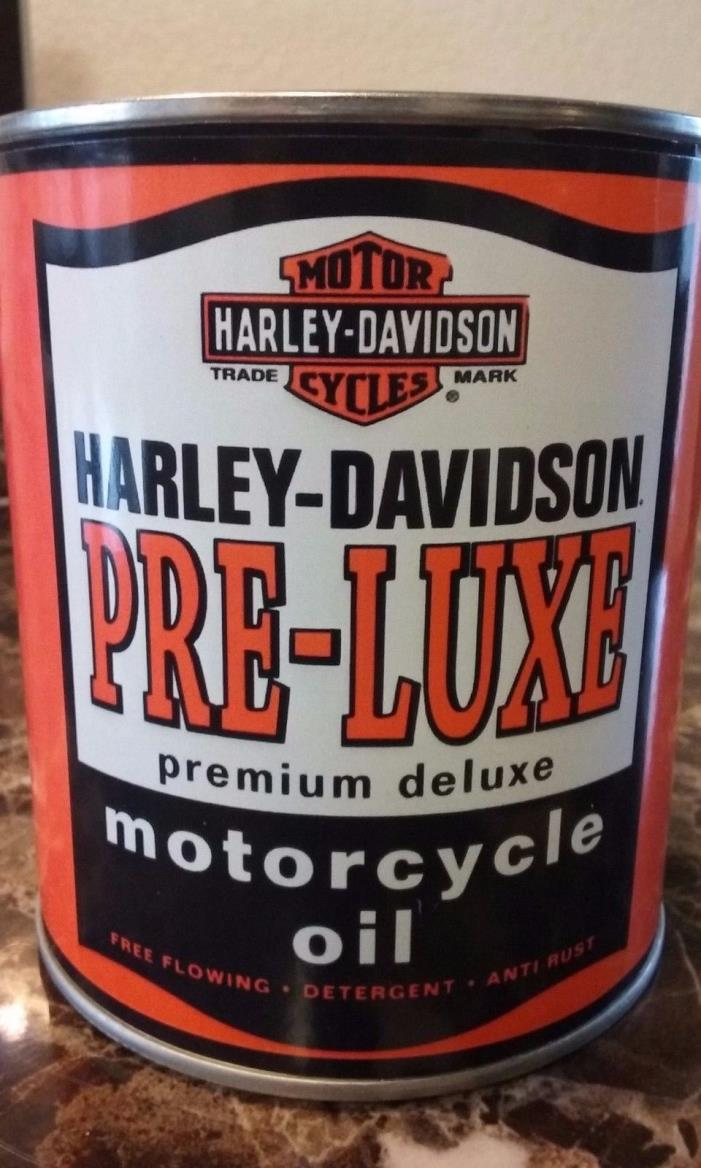 Vintage Harley Davidson Pre-Luxe Oil Can 1 qt. ( Reproduction ) Vintage oil can