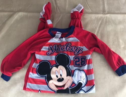 Disney Mickey Mouse Foot Pajama 3T Unisex