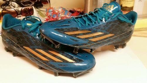 ADIDAS ADIZERO CLEATS SZ 12 Football CLEATS Teal GOLD 5 Star Low Football