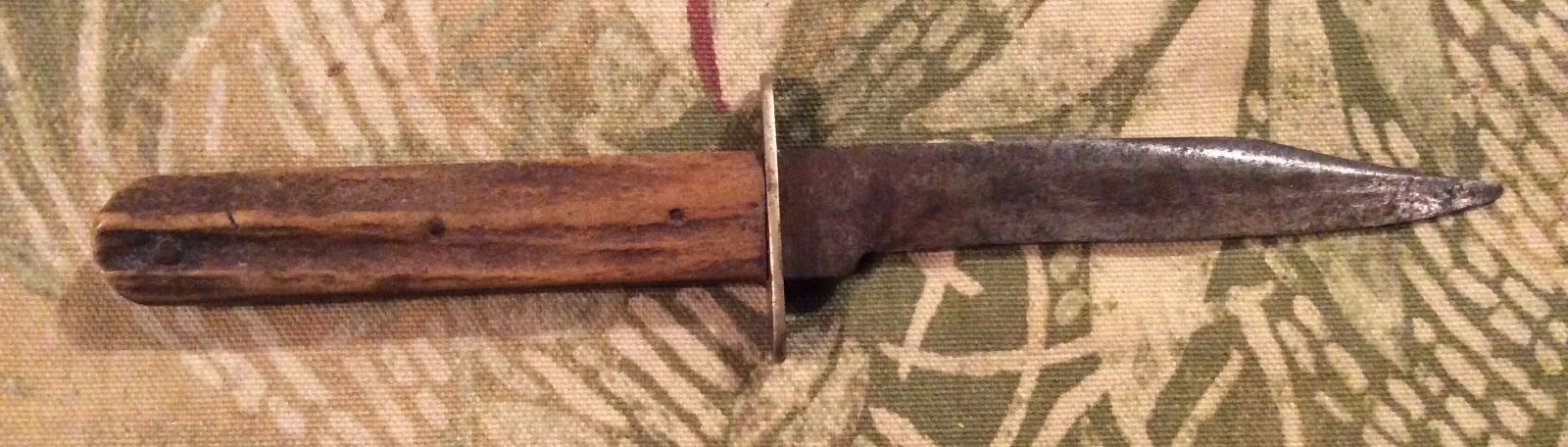 VINTAGE JIM BOWIE KNIFE STAG GRIP J. ALLEN & Sons SHEFFIELD ENGLAND Non XLL