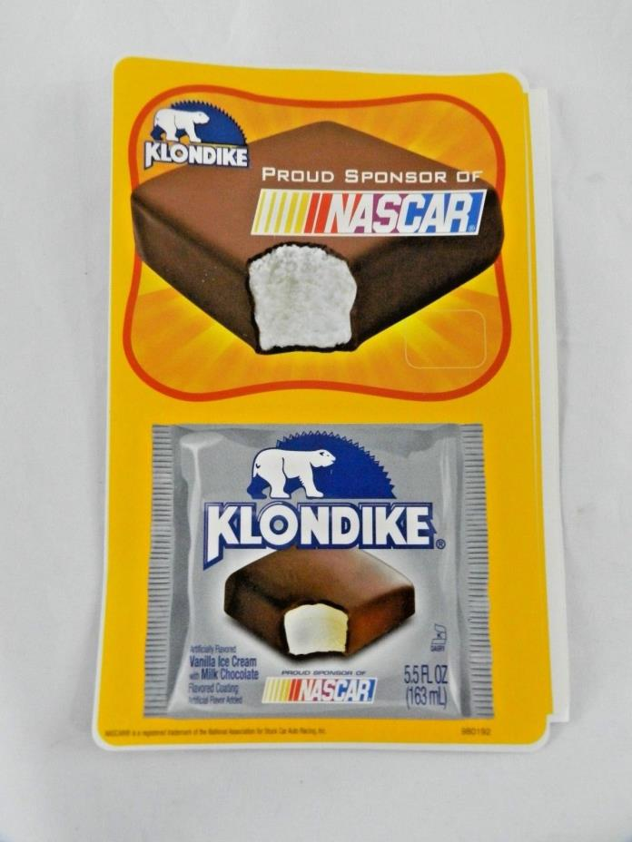 Vintage Good Humor NASCAR Klondike Ice Cream Truck Pricing Sticker