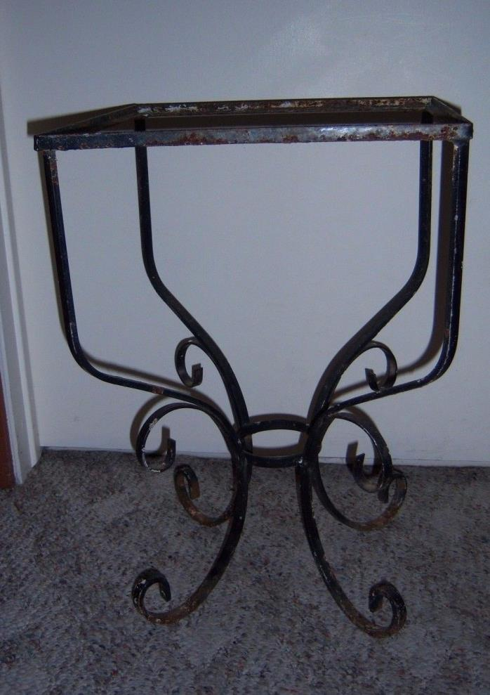 Longaberger wrought iron side table for sale classifieds for Wrought iron side table base
