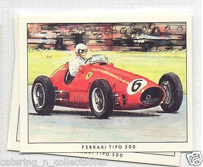 #16 Ferrari tipo 500 grand prix early years trade card
