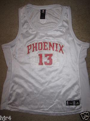 Steve Nash #13 Phoenix Suns Adidas Pink NBA Jersey Womens XL