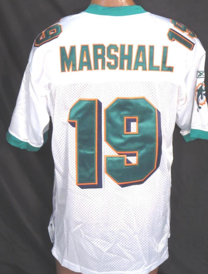 Miami Dolphins Brandon Marshall #19 Reebok NFL Sewn On Jersey *