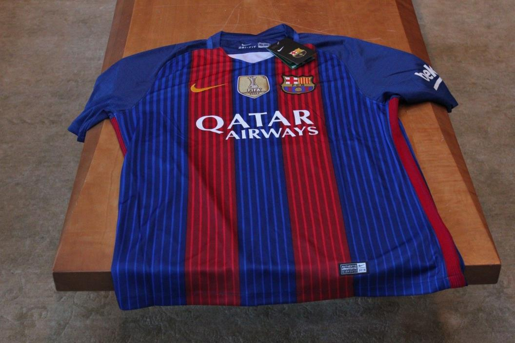Messi Barcelona #10 Authentic Jersey Men's M Nike with Tag
