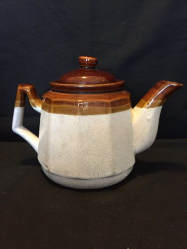 3 tone brown teapot 6 cup