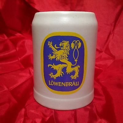 Vintage Ceramarte Stein Mug Brazil - Lowenbrau Beer