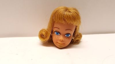 Vintage Mattel Midge doll head white earrings