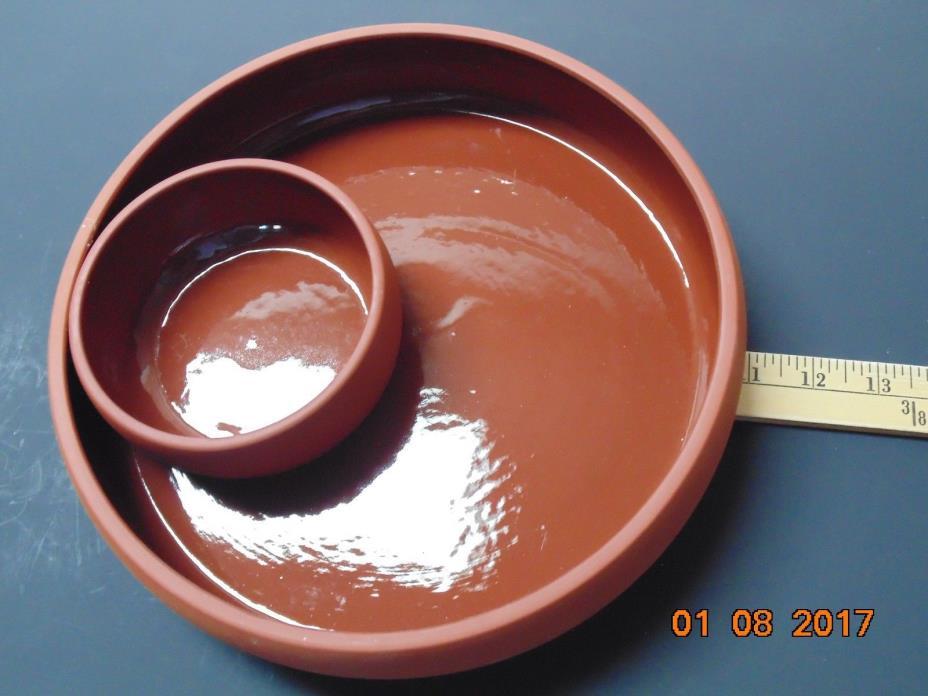 Bortner Terra Cotta - Terracotta Chip & Dip Dish