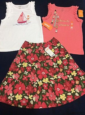 girls size 7 gymboree skirt top set 3 pcs NWT