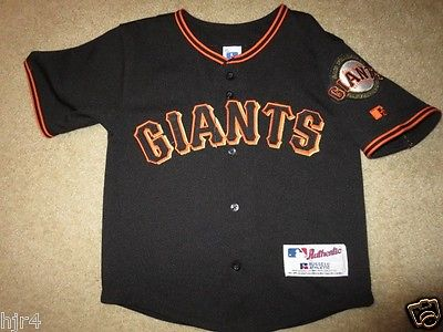 San Francisco Giants MLB Baseball Jersey Toddler M 5-6 6T Russell Athletic
