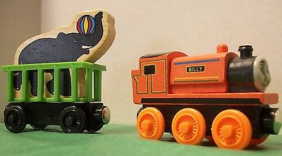 Billy Magnetic Wooden Toy Train with  Elephant Car,  USA Seller