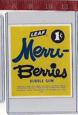 vintage vending machine display 1c Leaf Merri-Berries bubble gum card FREE SHIP