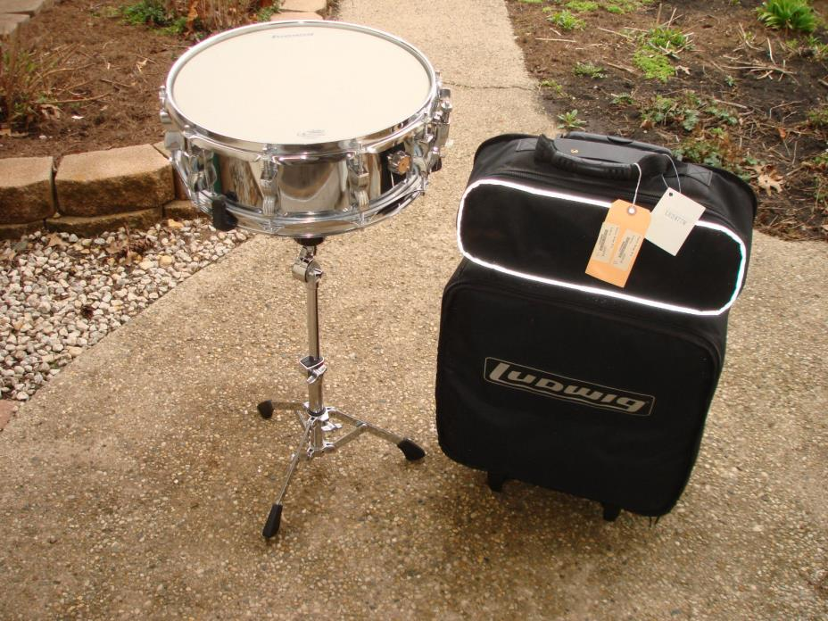"""Ludwig LE2477R Rolling Drum Kit -  5"""" x 14"""" Snare, Tama Stand & Ludwig Case"""