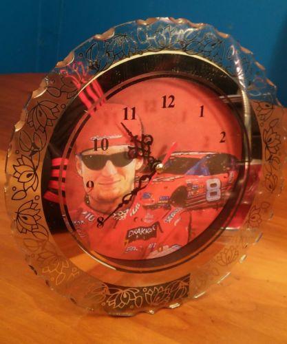 NASCAR Dale Earnhardt Jr. #8 Lighted Glass Clock