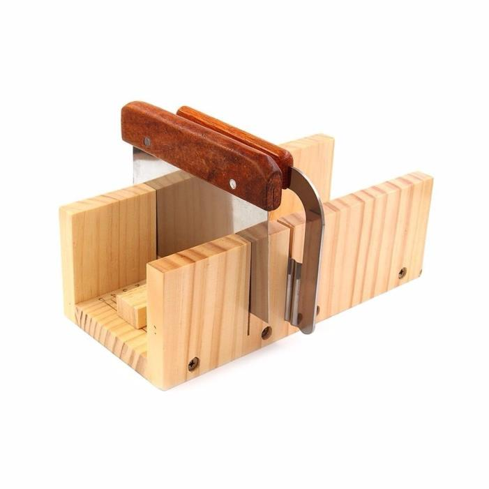 Peicees Adjustable Wooden Soap Mold Handmade Loaf Cutter Mold with 2pcs Wavy NEW