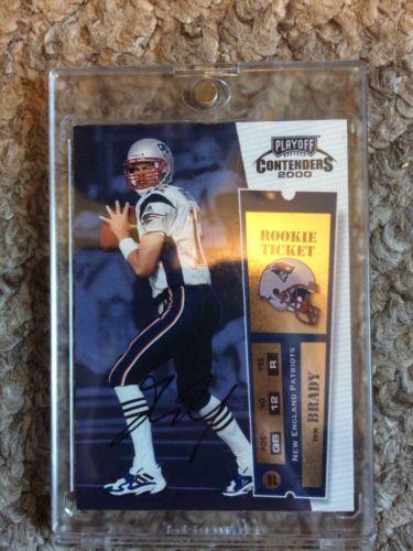 2000 Playoff Contenders ROOKIE TICKET #144 Tom Brady Patriots RC Rookie AUTO