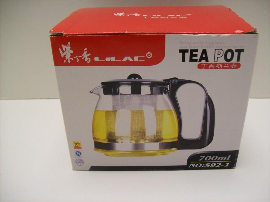 Teapot With Basket Infuser 700 ml - NEW