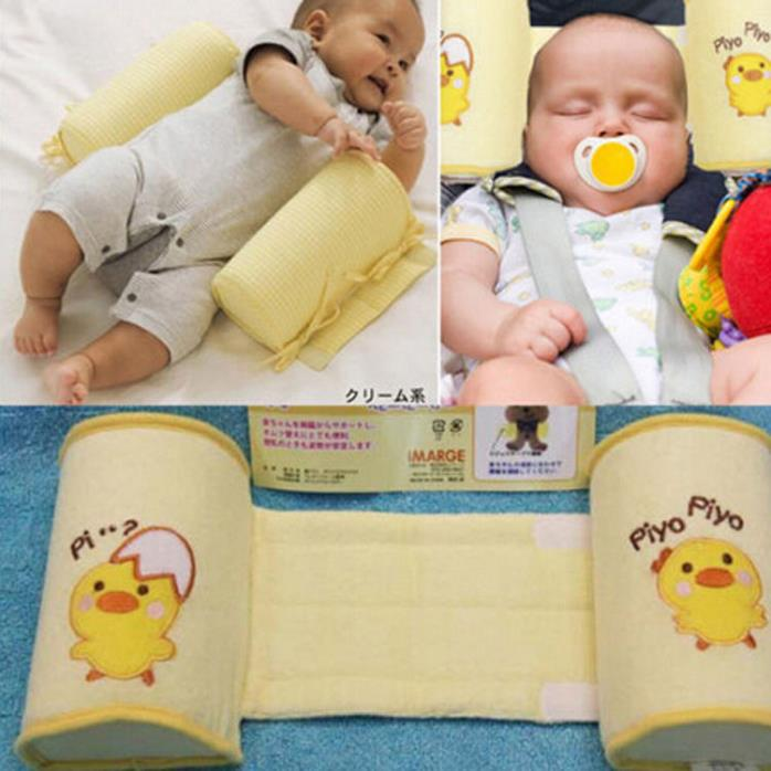 US Baby Infant Newborn Sleep Positioner Prevent Flat Head Shape Anti Roll Pillow