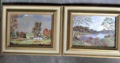 BEAUTIFUL COUNTRY SCENE - FOIL IMAGING ART -  CRAFTED BY FRANKLIN