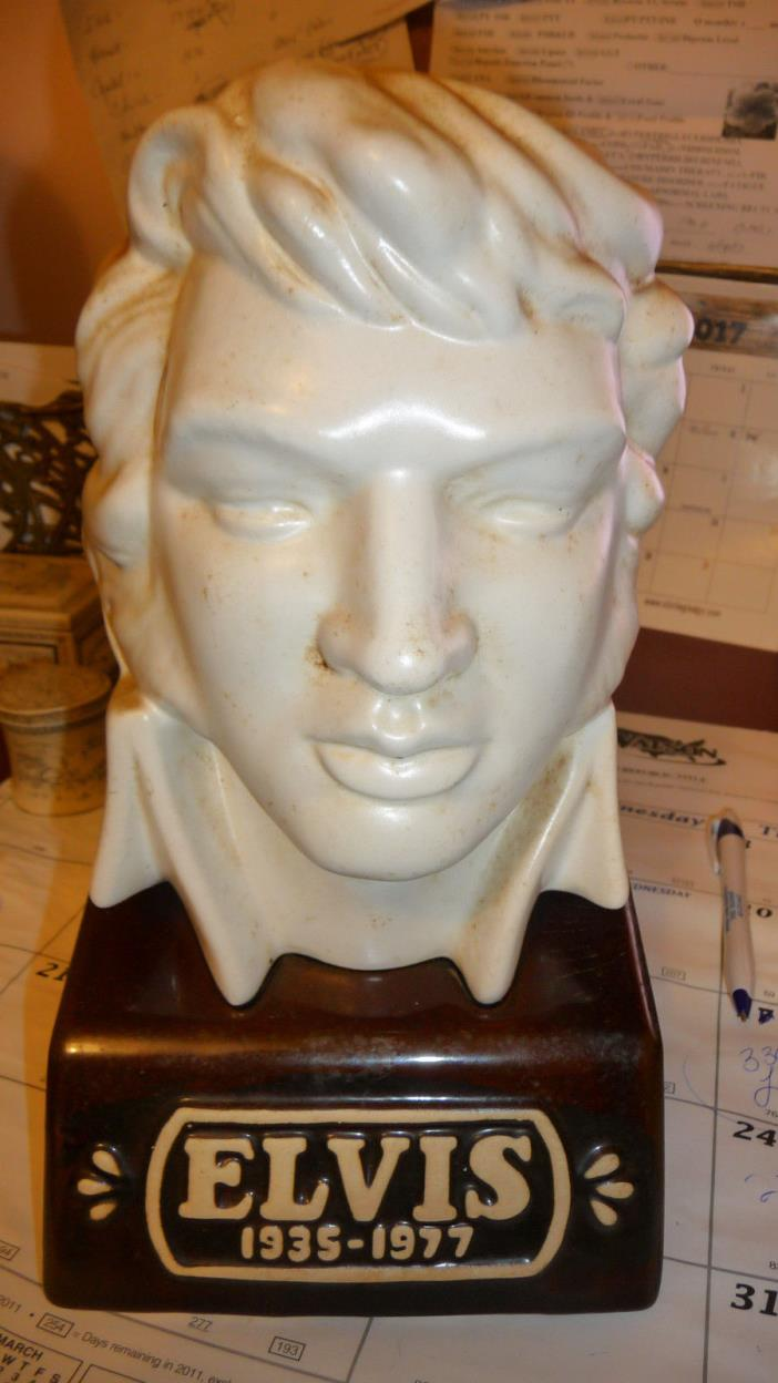 Elvis Bust! McCormick Straight Burbon Whiskey Decanter  FULL BUT CORK IS CRACKED
