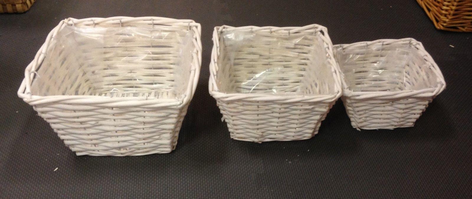 Wicker Basket Planter Basket Gift Basket with liner Large