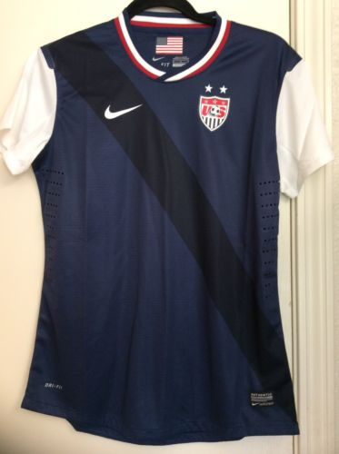NWT 2015 US Soccer Womens Authentic USWNT Nike Away World Cup Jersey Size M