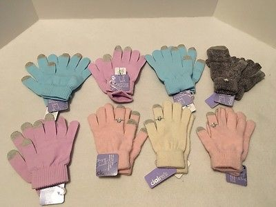 Lot #1 of 8 Pair SmartPhone Touch Screen Gloves Purple Pink Beige Graphic  $60+