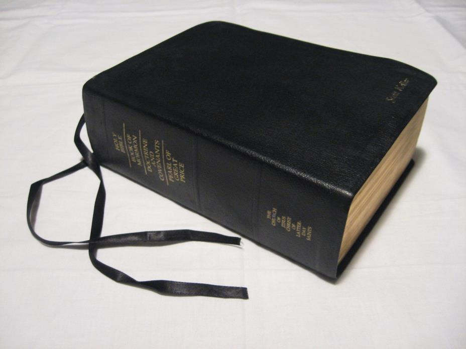2003 LDS Holy Bible/Book Of Mormon/D&C/Pearl Of Great Price Black Scripture Quad