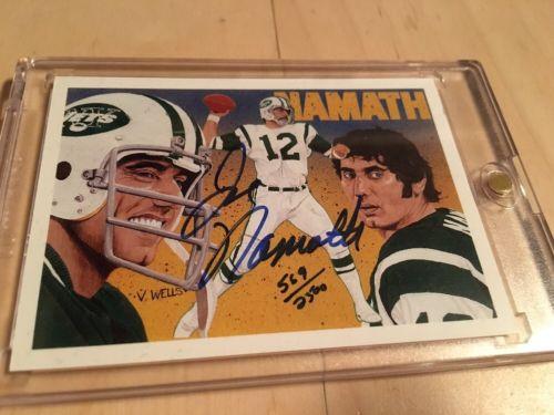 1991 Upper Deck Football Heroes #18 Joe Namath Autograph Signed Card 569/2500
