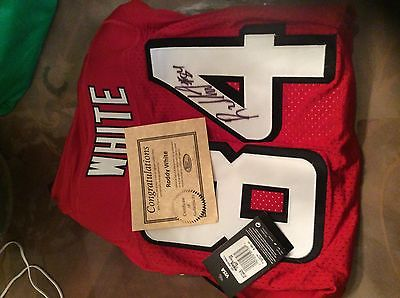 Autographed Atlanta Falcons NFL Roddy White Jersey Certificate Of Authenticity