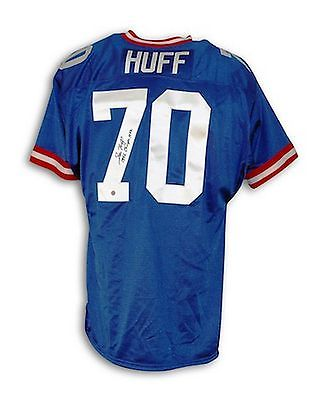 Autographed Sam Huff New York Giants Blue Throwback Jersey