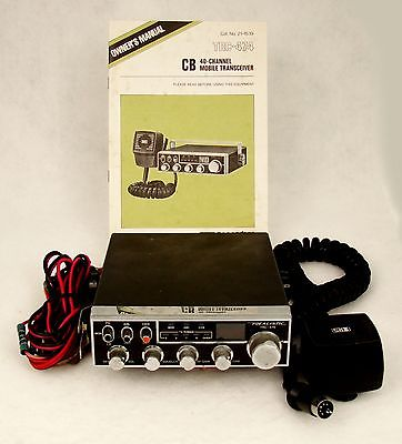 VINTAGE REALISTIC TRC-474 CB 40-CHANNEL RADIO – TESTED