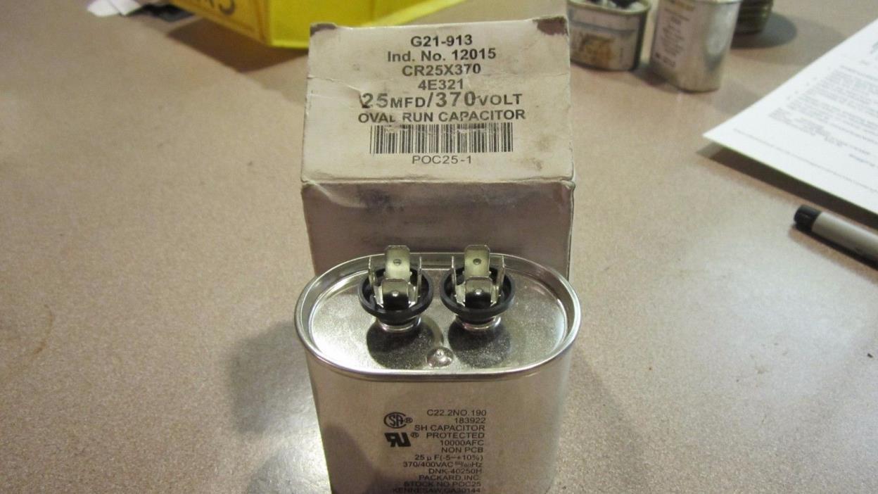 Mars 12240 25MFD 440 VAC Motor Run Capacitor