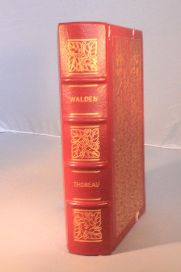 Walden By Henry David Thoreau LEATHER EASTON PRESS Gilt pages