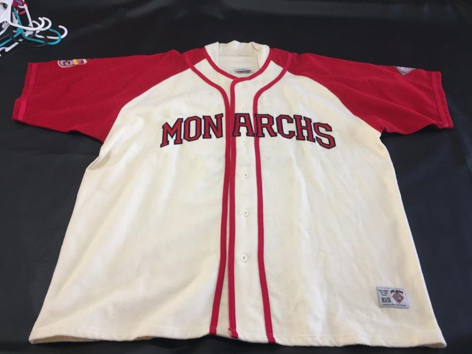 Satchell Paige #25  Authentic Kansas City Monarchs Away Jersey 3XL 100% Wool