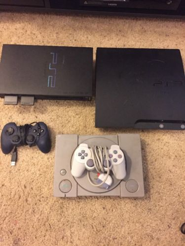 PS1, PS2 and PS3 Consoles