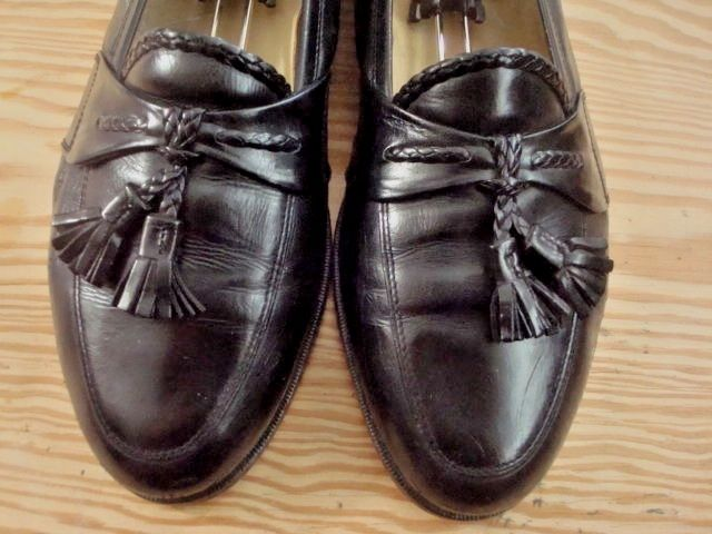 JOHNSTON & MURPHY, CELLINI, MEN'S SZ 10D, BLACK LEATHER SHOES, LOAFERS