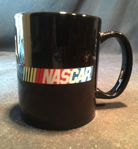 NASCAR Coffee Mug Tea Cup By Liquid Logic  Race Car  Black