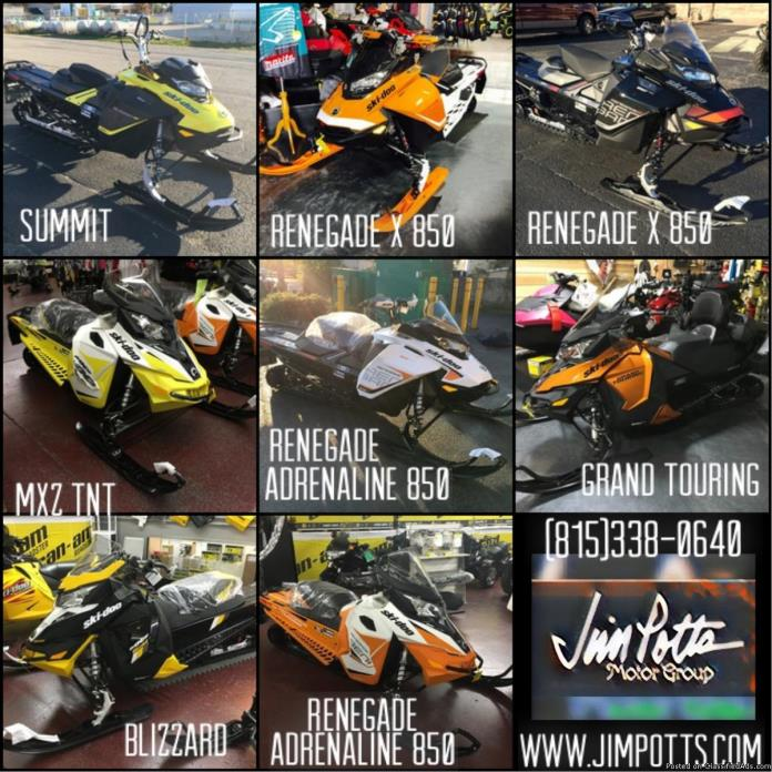 REDUCED! ALL NEW 2017 SKI-DOO SNOWMOBILES BEST PRICE GUARANTEED! - $8199 (Jim...