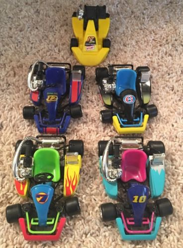 Toy Go Kart, Lot Of 5, Racing Race Cars, 1998 Go Carts Karts